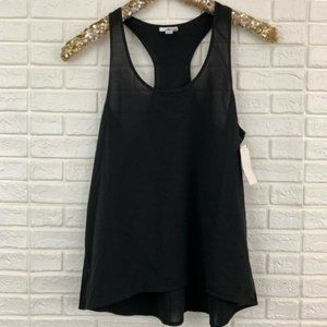 Abound solid black racerback tank top NEW
